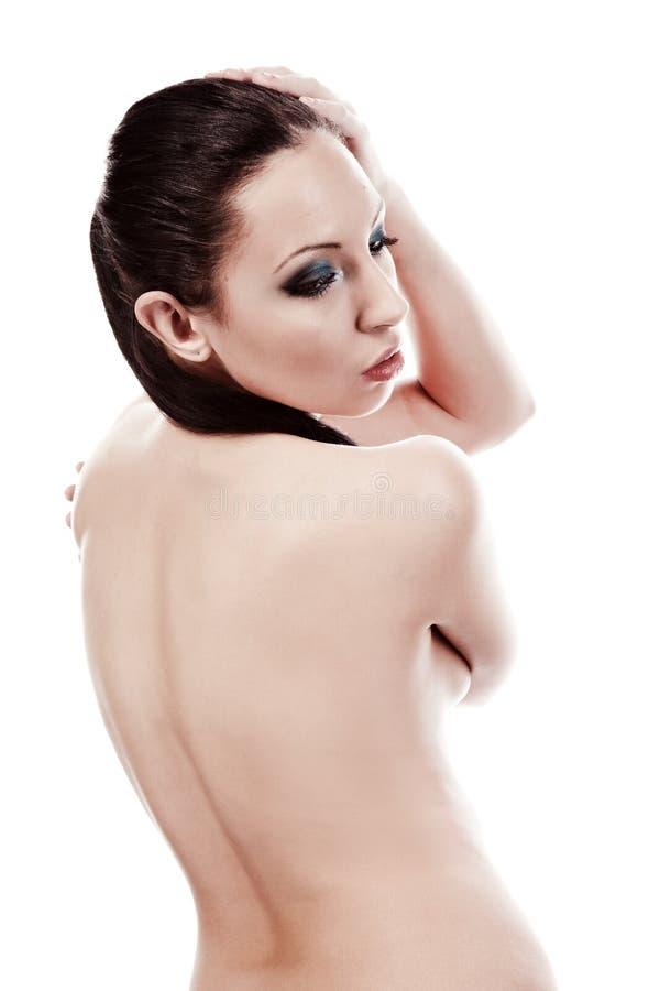 Portrait der schönen und reizvollen Frau lizenzfreie stockbilder