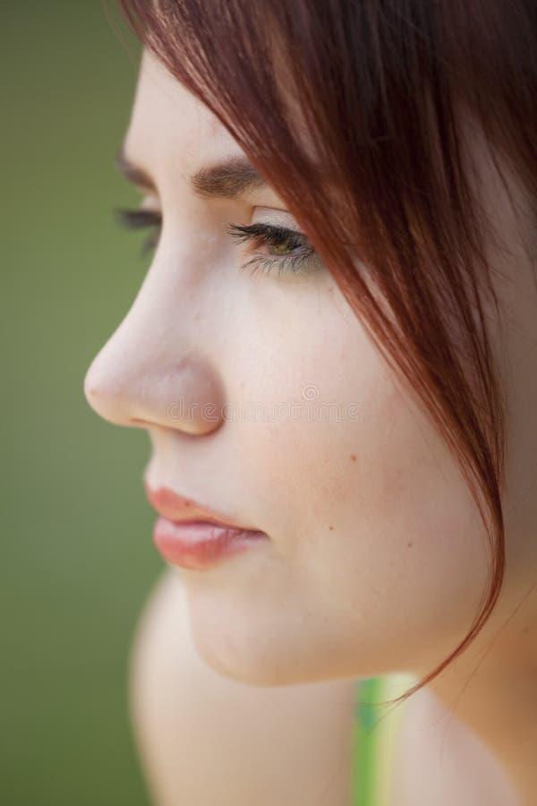 Portrait der traurigen Frau stockfotografie