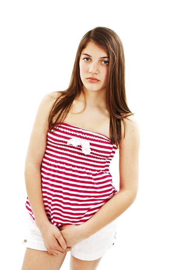 Portrait der unglücklichen Jugendlichen lizenzfreies stockfoto