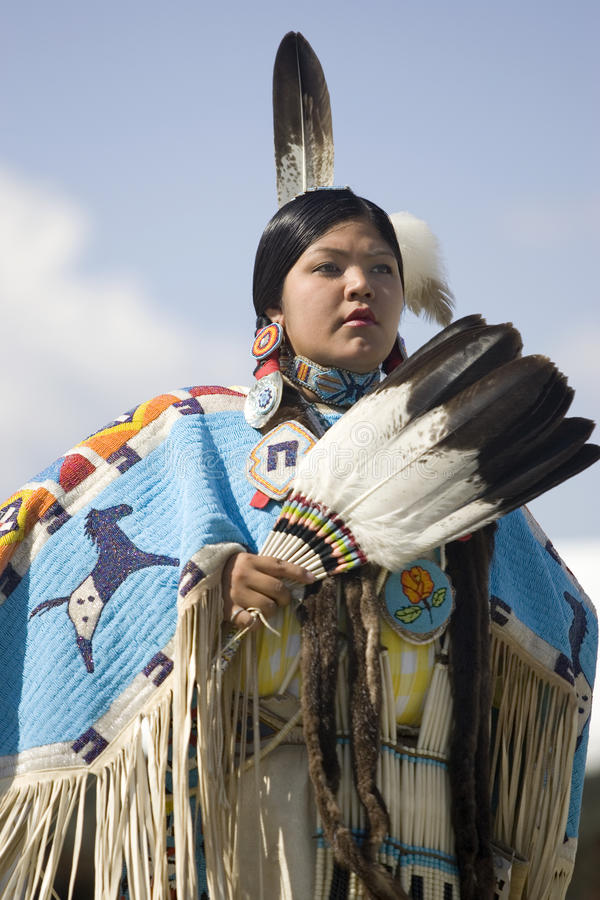 Portrait der Ureinwohnerfrau. stockbild