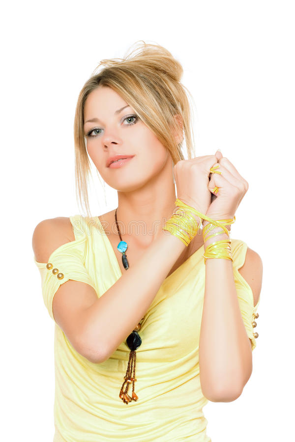 Portrait der vollkommenen jungen Blondine stockbilder