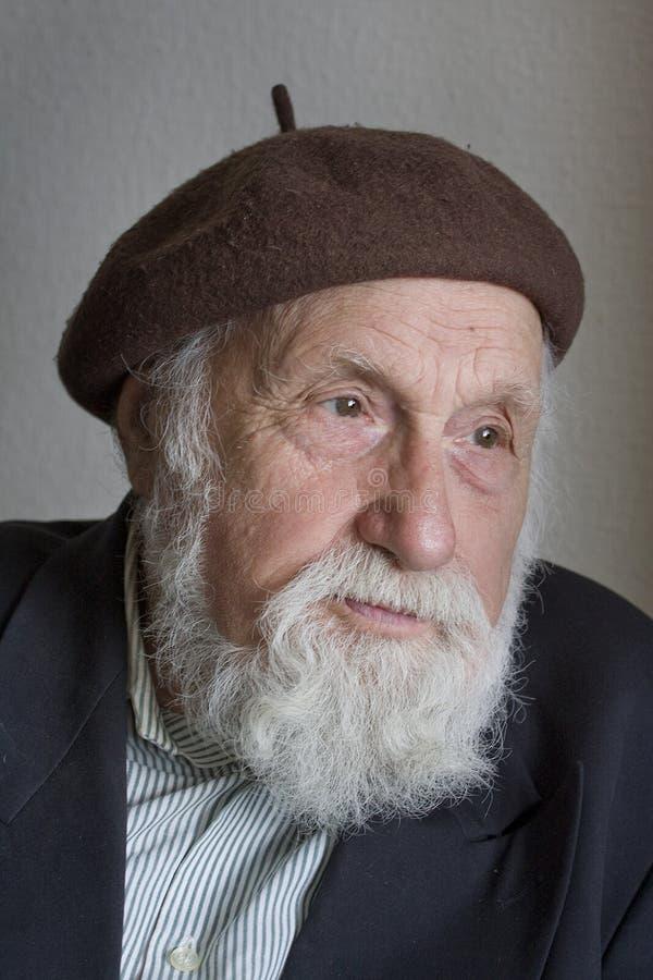 Portrait des älteren Mannes stockbild
