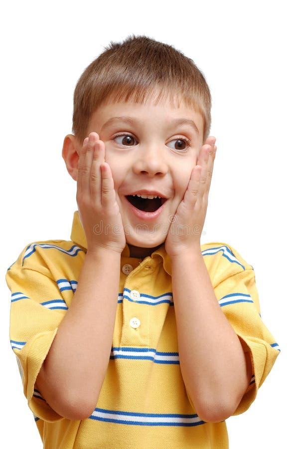 Portrait des überraschten Kindes lizenzfreies stockfoto