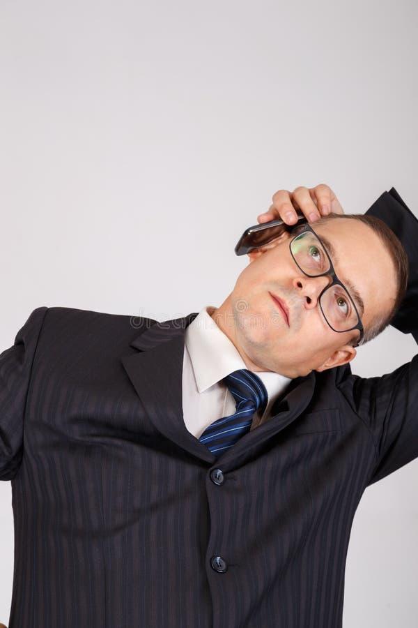 Portrait des affaires songeuses photos stock