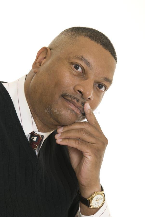 Portrait des Afroamerikanermannes lizenzfreie stockfotos