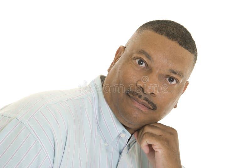 Portrait des Afroamerikanermannes stockfoto