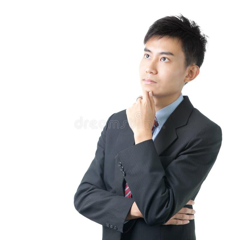 Portrait des asiatischen chinesischen Geschäftsmannes stockbild