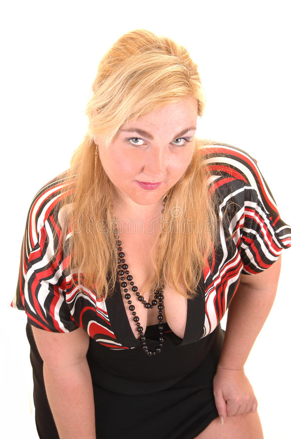 Portrait des blonden Mädchens. stockfoto