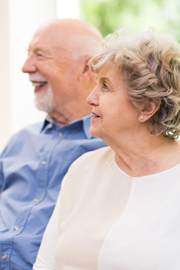 Portrait des couples d'aîné dans la verticale image stock