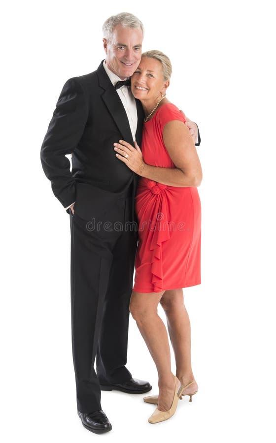 Portrait des couples supérieurs affectueux image libre de droits