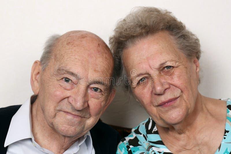 Portrait des couples supérieurs plus anciens photos libres de droits