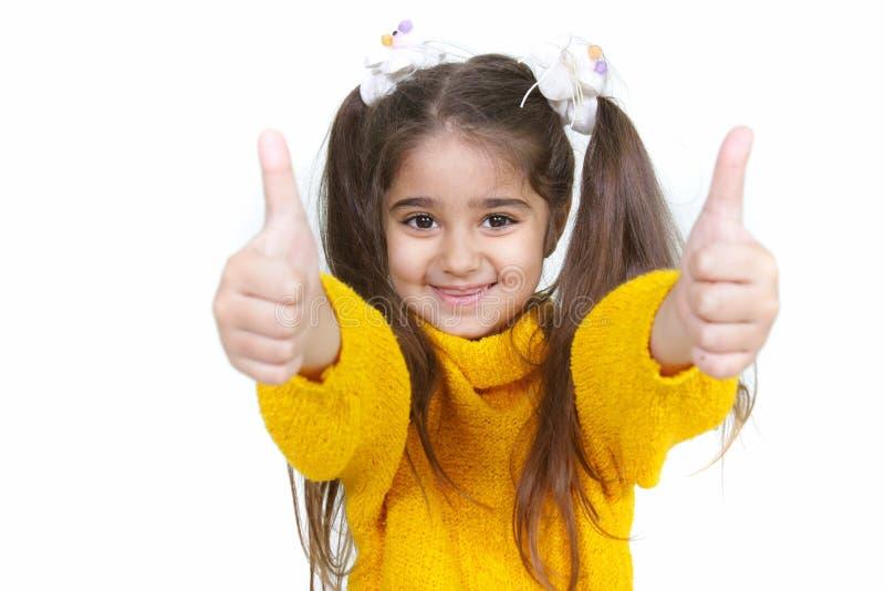 Portrait des Erscheinens des jungen Mädchens greift oben ab lizenzfreie stockfotografie
