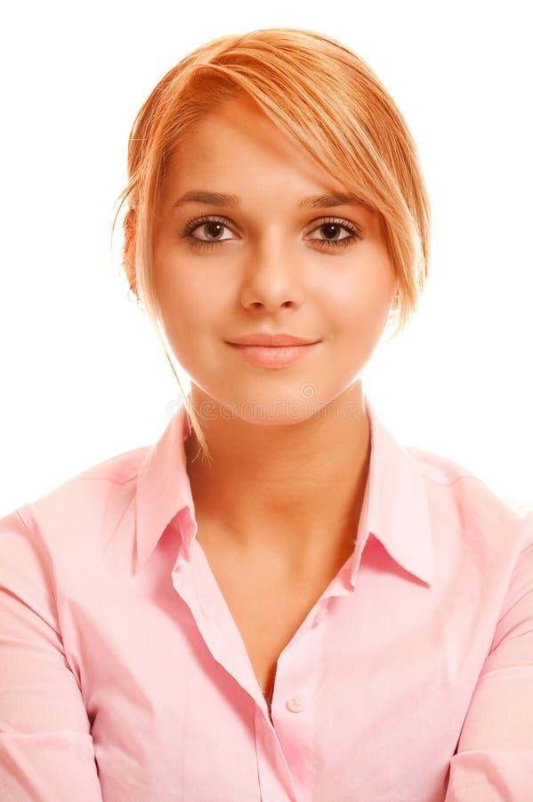 Portrait des fair-haired Mädchens lizenzfreies stockbild
