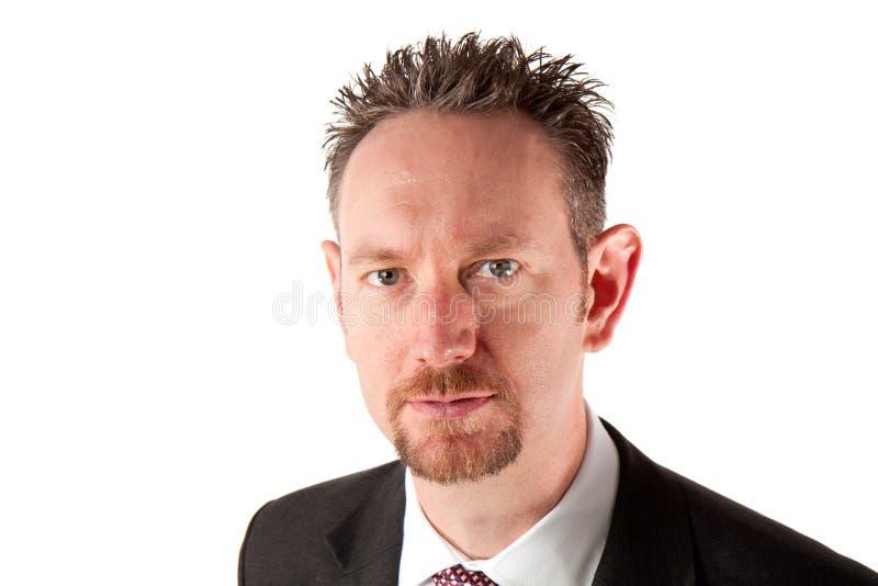 Portrait des Geschäftsmannes mit Spitzbart-Bart stockfotos
