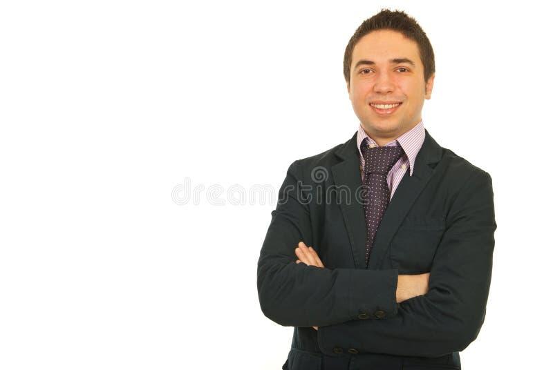 Portrait des glücklichen Geschäftsmannes lizenzfreie stockbilder