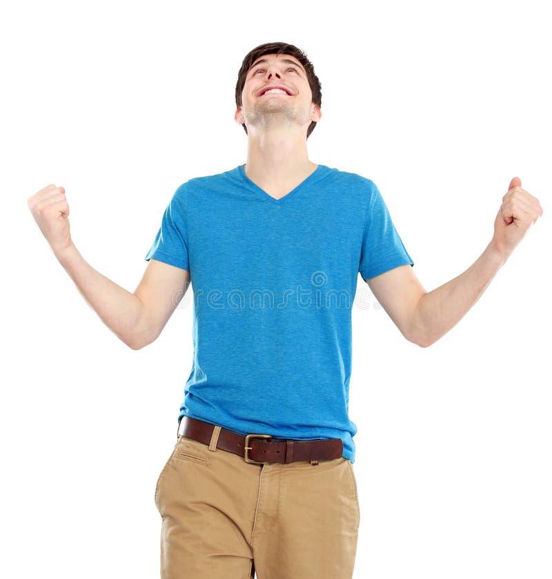 Portrait des glücklichen jungen Mannes lizenzfreies stockbild