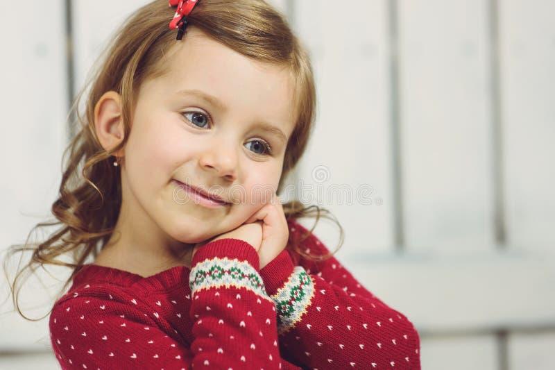 Portrait des glücklichen Mädchens stockfotografie