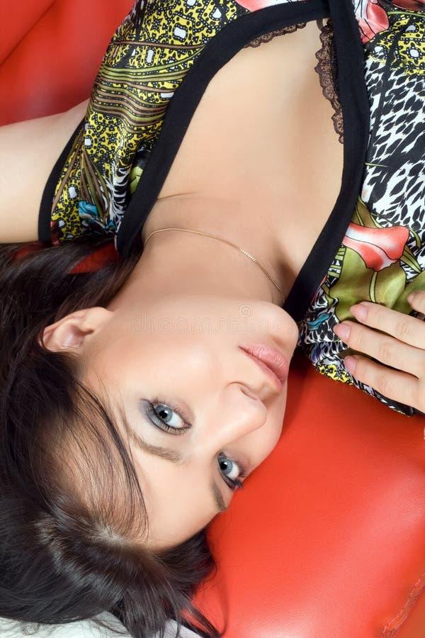 Portrait des hübschen Mädchens lizenzfreies stockfoto