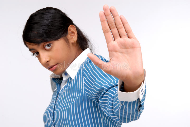 Portrait des indischen hübschen Mädchens lizenzfreie stockfotografie