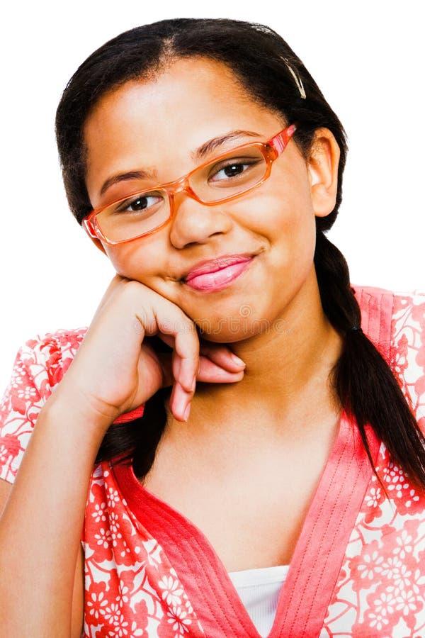 Portrait des Jugendliche-Lächelns lizenzfreie stockfotos