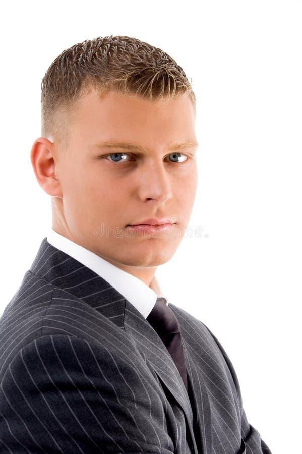 Portrait des jungen Chefs stockfotos