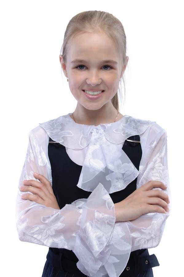 Portrait des jungen fair-haired Mädchens stockbild