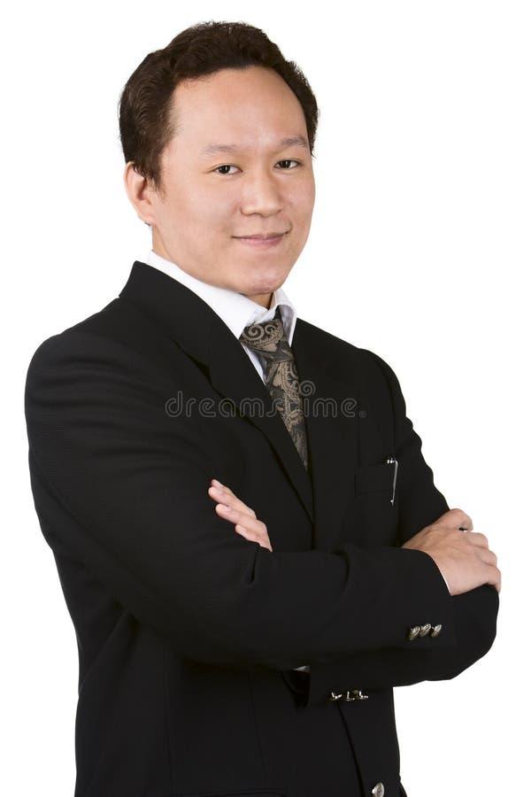 Portrait des jungen Geschäftsmannes stockbild