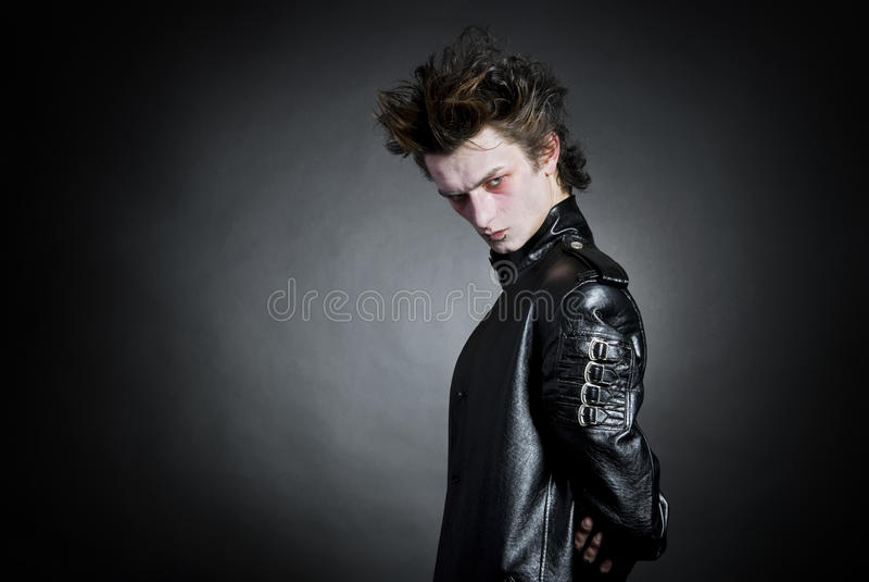 Portrait des jungen goth lizenzfreie stockbilder