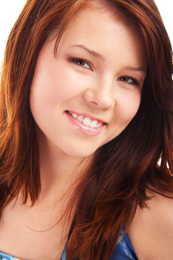 Portrait des jungen Jugendbrunettemädchens stockbilder