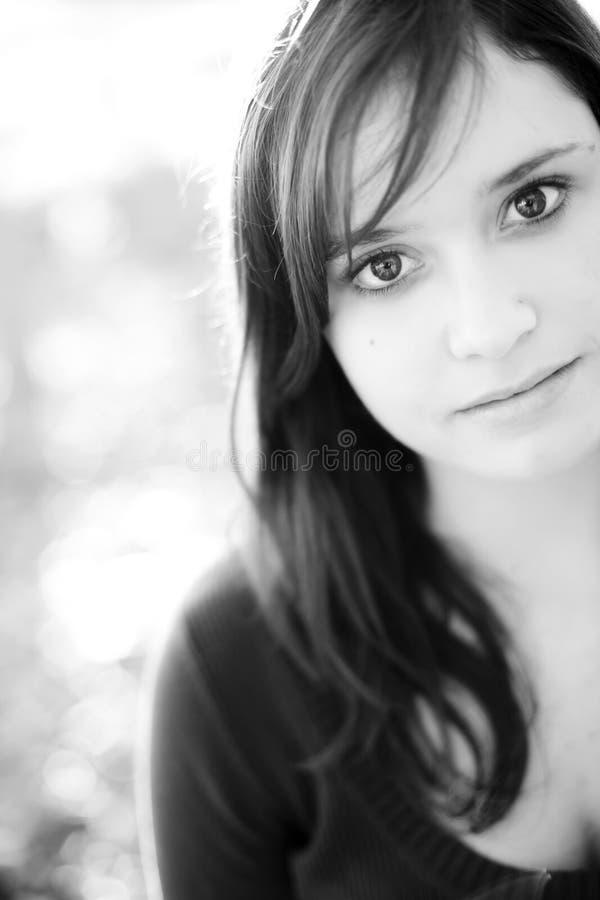 Portrait des jungen Mädchens stockfotos