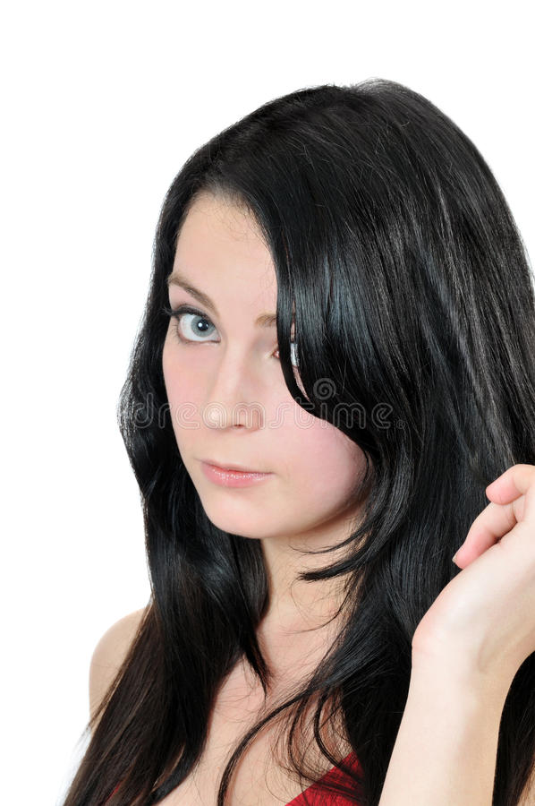 Portrait des jungen schönen Brunette stockfoto