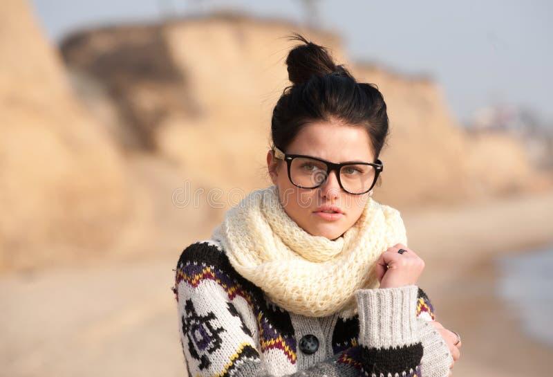 Portrait des jungen traurigen Mädchens lizenzfreies stockfoto