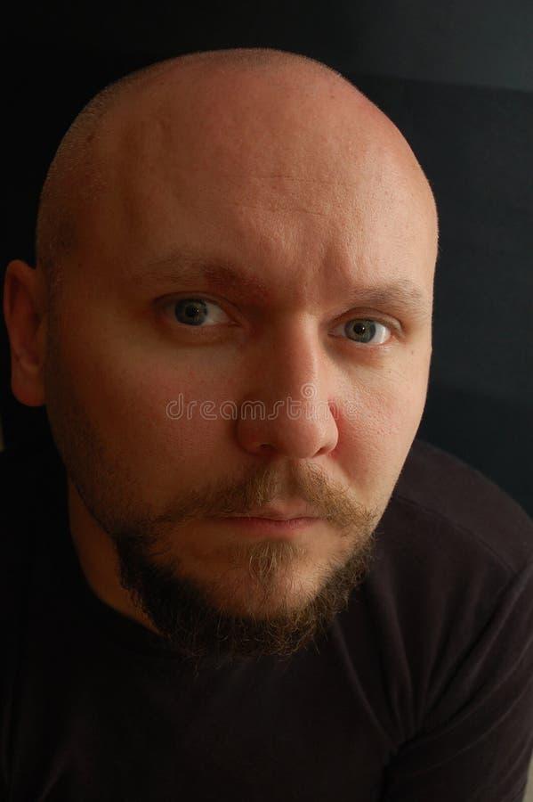 Portrait des kahlköpfigen Mannes lizenzfreie stockbilder