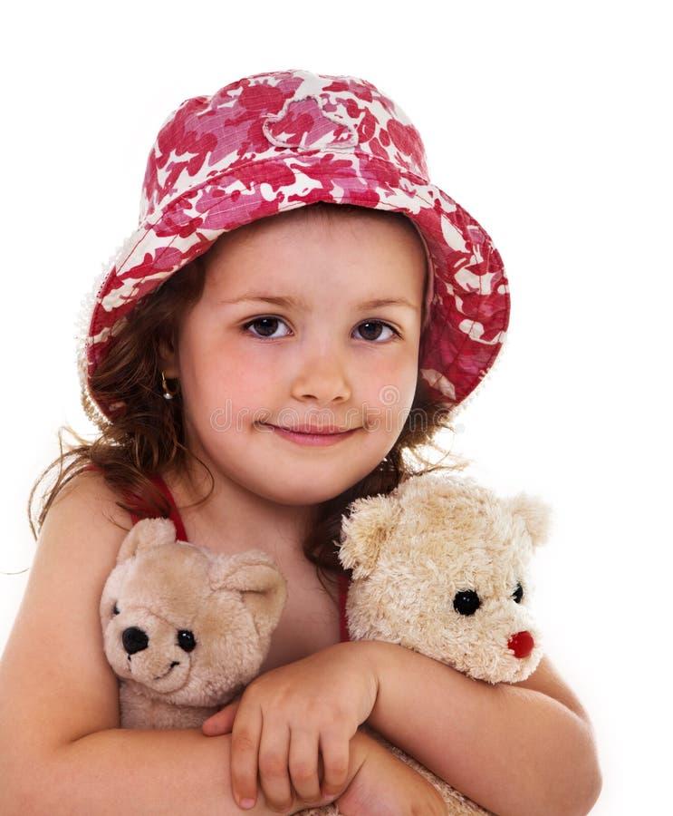 Portrait des Kindes mit Spielwaren lizenzfreie stockfotografie