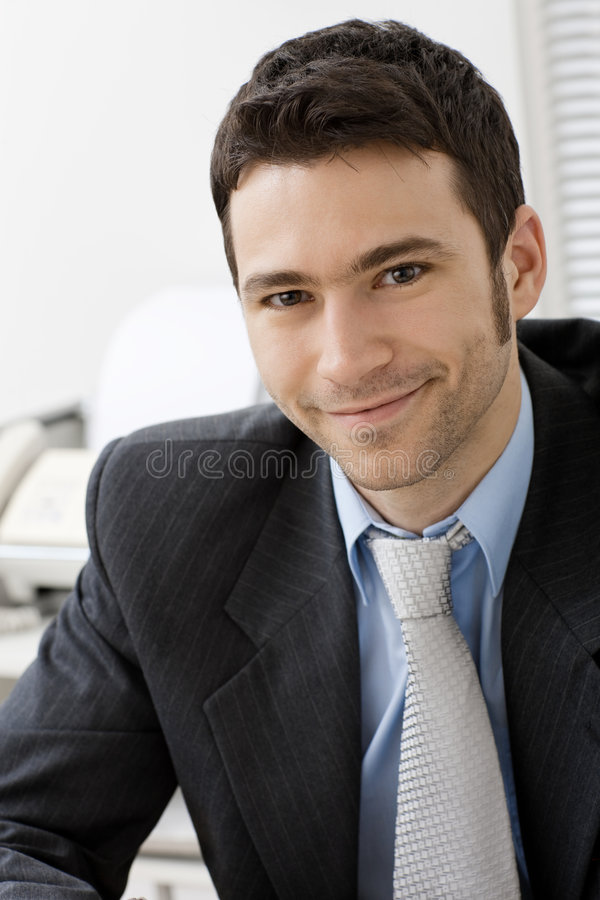 Portrait des lächelnden Geschäftsmannes lizenzfreie stockbilder