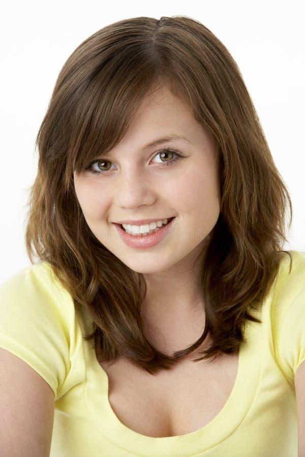 Portrait des lächelnden jungen Mädchens lizenzfreies stockbild