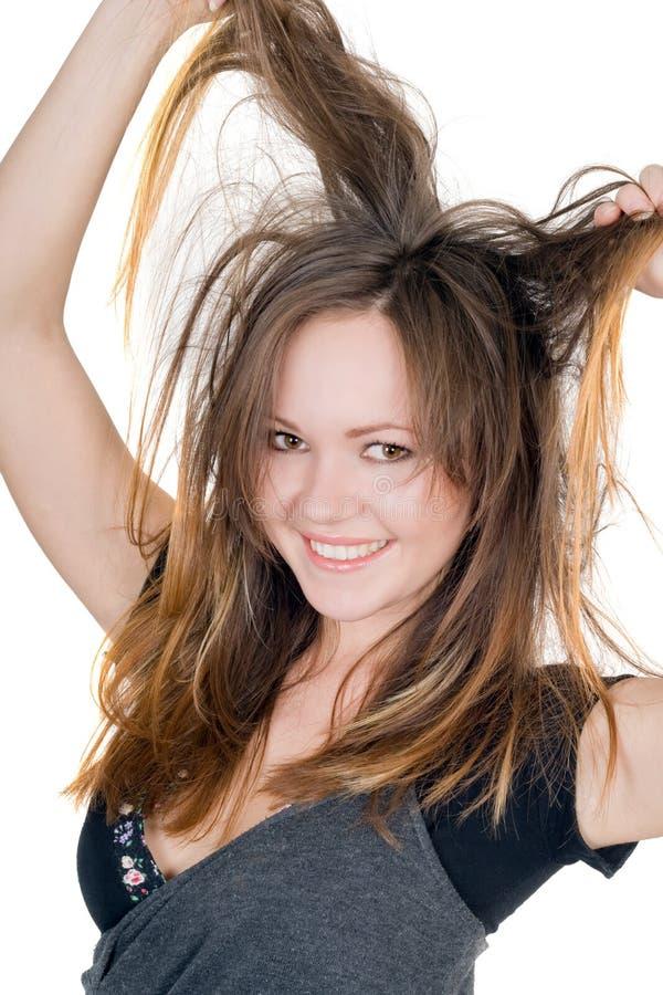 Portrait des lächelnden spielerischen Mädchens lizenzfreie stockfotos