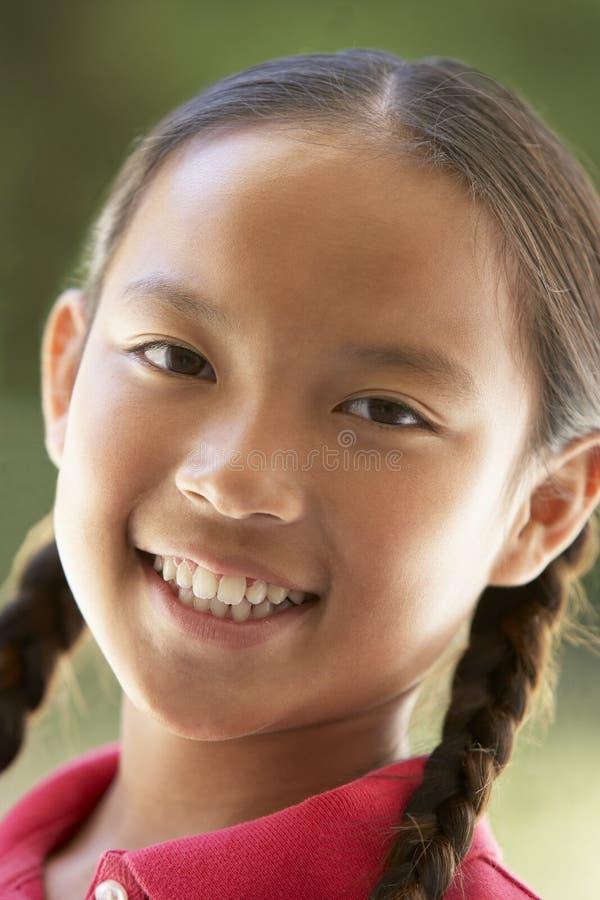 Portrait des Mädchen-Lächelns lizenzfreie stockfotos