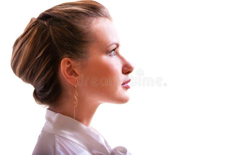 Download Portrait Des Mädchens Im Profil Stockbild - Bild von angemessen, fashion: 9092039
