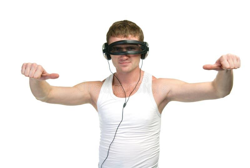 Download Portrait des Mannes stockfoto. Bild von mann, hitze, energie - 12200030