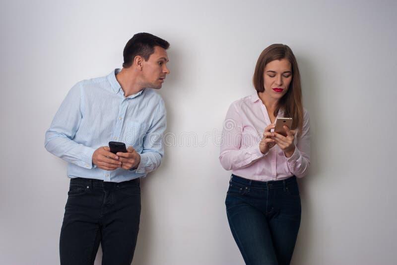 Portrait des Mannes und der Frau lizenzfreies stockbild