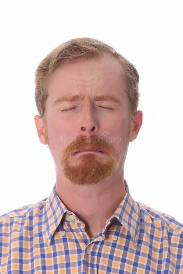 Portrait des Mannschreiens lizenzfreie stockfotos