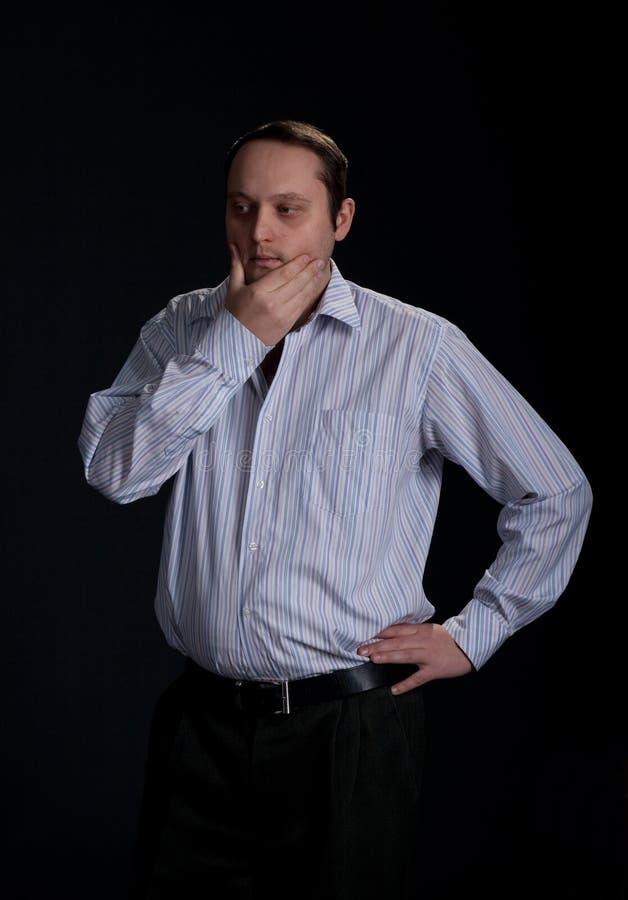Portrait des mittleren gealterten Geschäftsmannes lizenzfreies stockbild