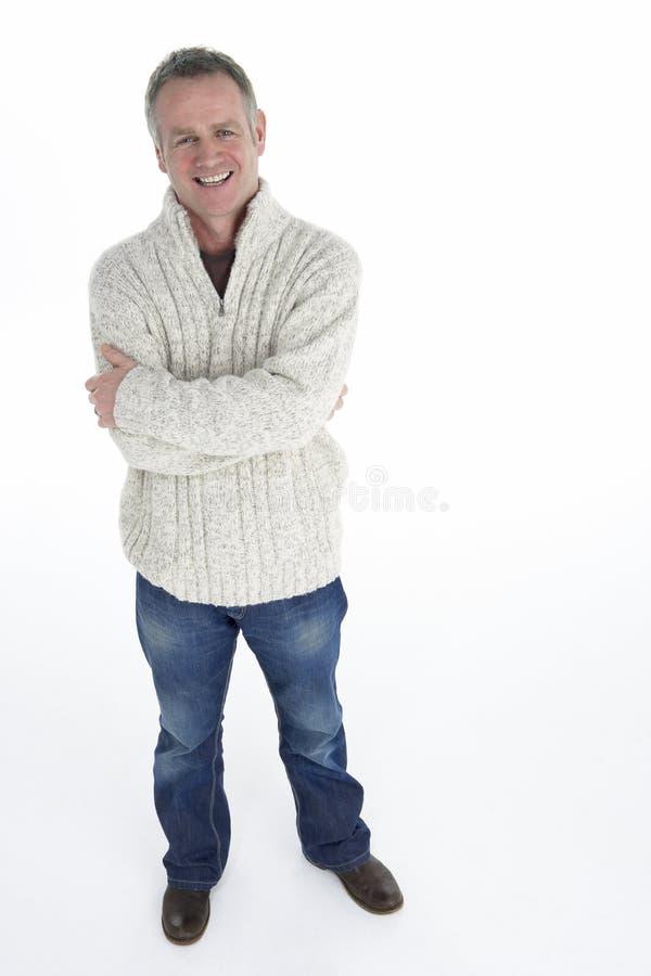 Portrait des mittleren gealterten Mannes lizenzfreies stockbild