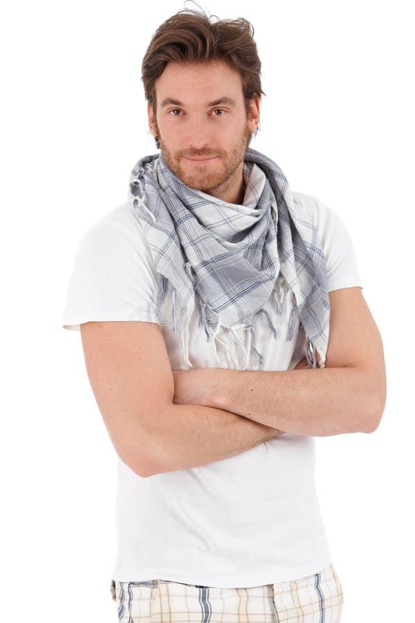 Portrait des modischen jungen Mannes stockfoto