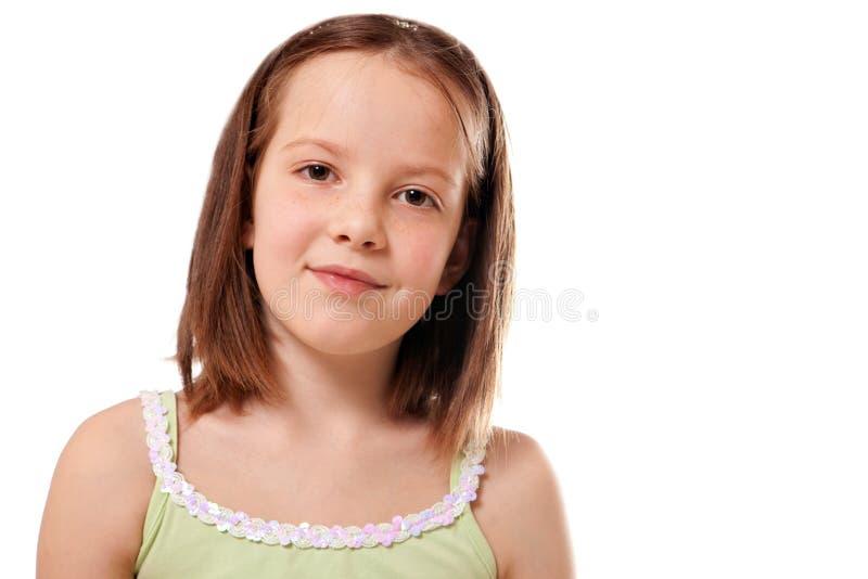 Portrait des netten lächelnden Mädchens lizenzfreie stockbilder