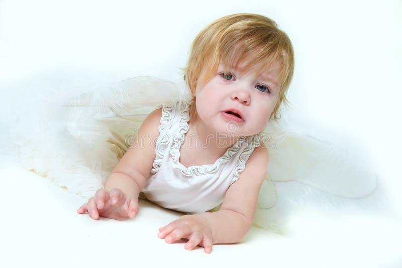 Portrait des netten unglücklichen Mädchens stockbilder