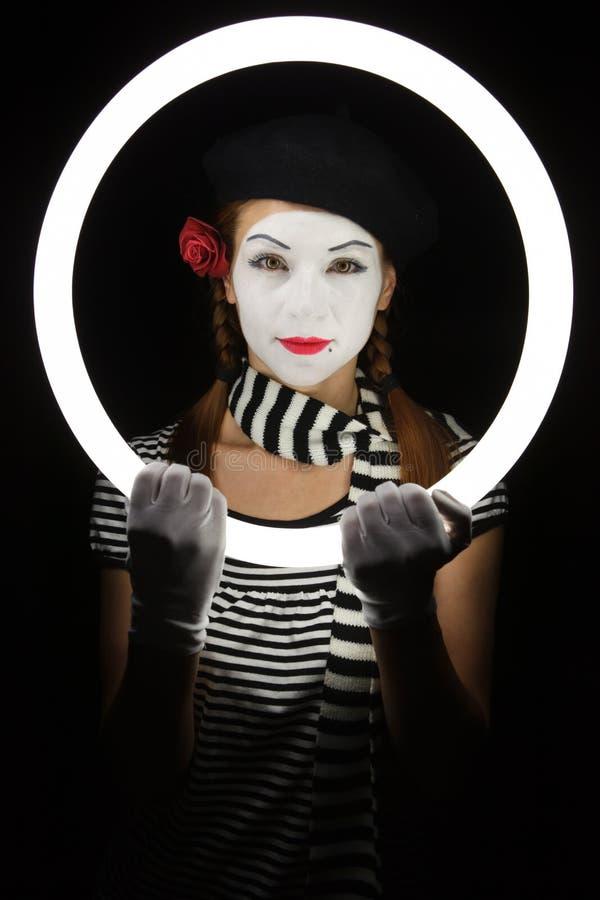 Portrait des Pantomimen lizenzfreie stockfotografie