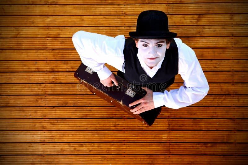 Portrait des Pantomimen stockbilder