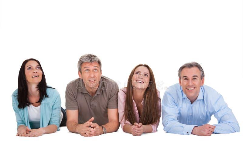 Portrait des personnes heureuses images stock